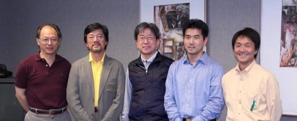 新任理事 (左から大永、千田、八木、高野、中島)